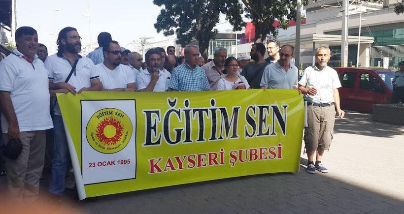 Kayseri'de gözaltılara tepki eylemi
