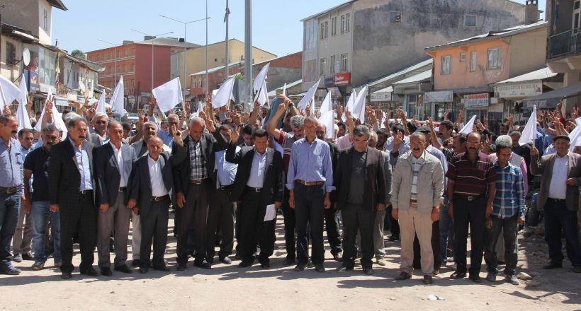 Karayazı'da barış yürüyüşü