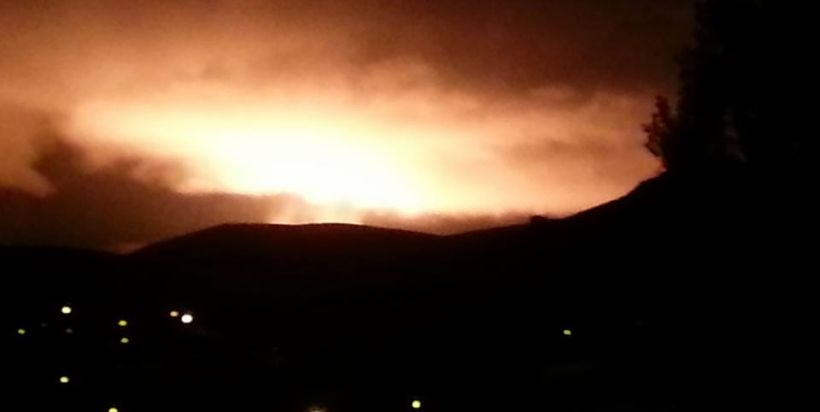 Sarıkamış doğal gaz boru hattında patlama