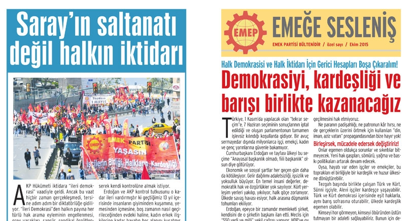 Katliama tepki bildirisi dağıtan EMEP'lilere engelleme: AKP'liler engelledi polis bildirilere el koydu