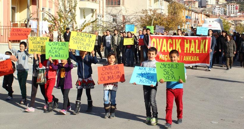 Ovacık'a yapılacak çöp tesisine protesto