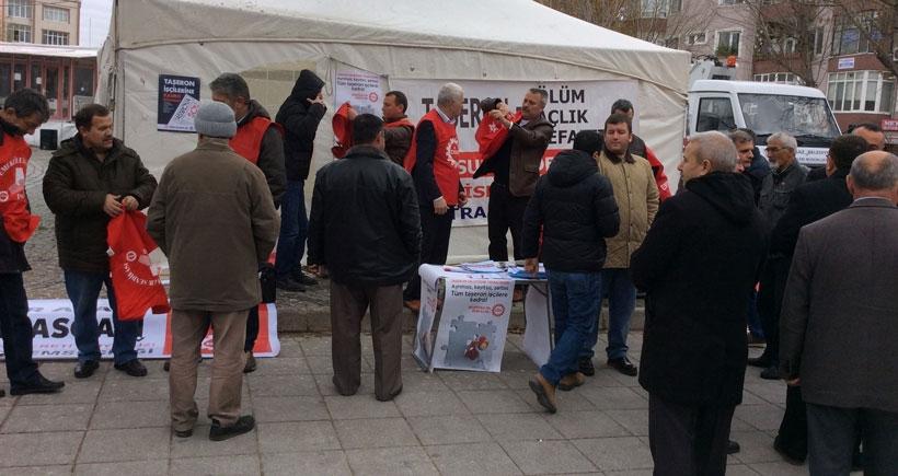 Lüleburgaz'da asgari ücret için imza kampanyası