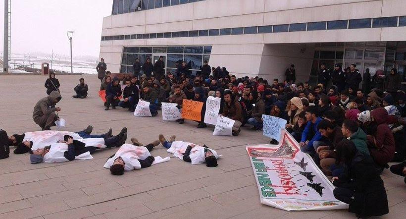 Muş Alparslan Üniversitesi öğrencileri Roboskî katliamını lanetledi