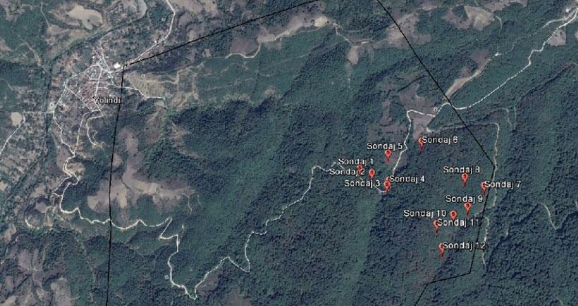 Çanakkale'de ormanlık alanda madene izin çıktı