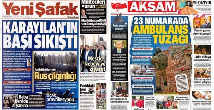 AKP basını Cizre'deki yaralılar için ölüm fermanı çıkardı