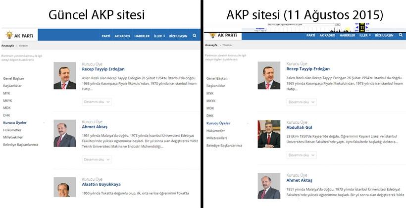 AKP'nin 'eski' ve 'yeni' kurucuları!
