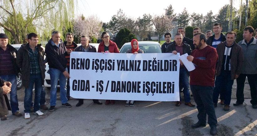 Danone işçilerinden Renault işçilerine destek açıklaması