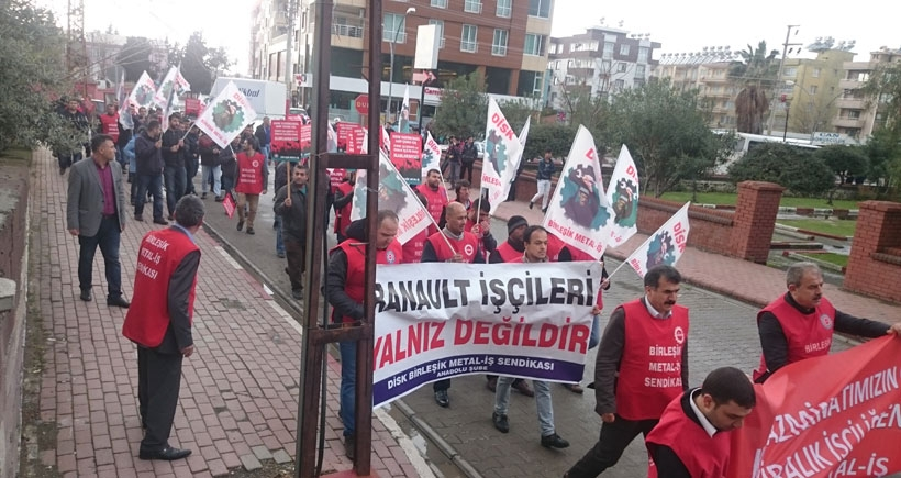 Yücel Boru işçilerinden Renault işçilerine destek