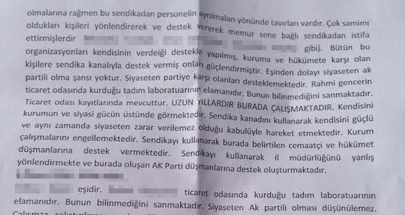 AKP ilçe başkanına özel fişleme