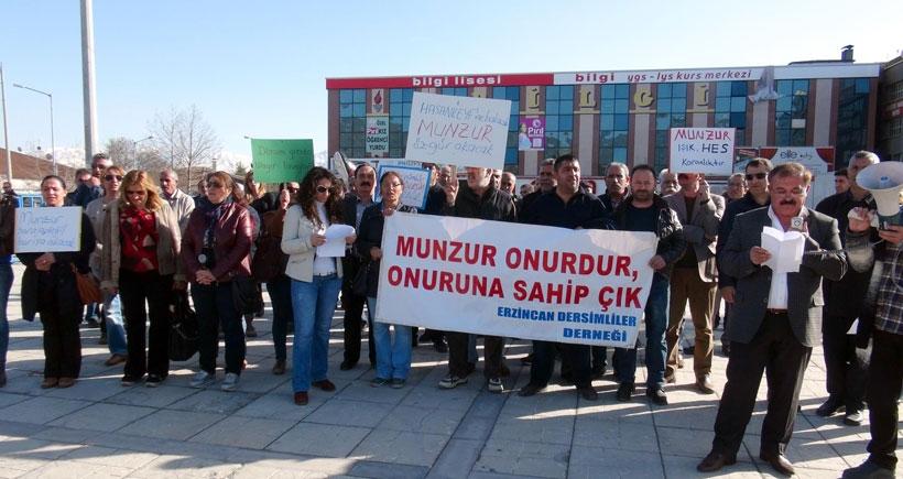 Erzincan'da HES protestosu