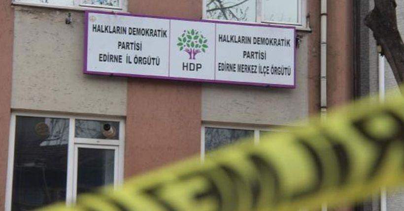 Edirne'de HDP binasına silahlı saldırı
