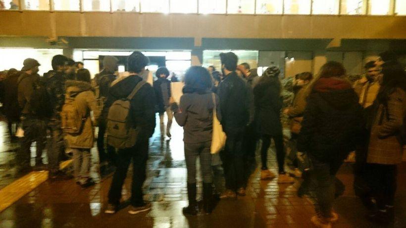 Boğaziçi Üniversitesi öğrencileri 3 akademisyenin tutuklanmasını protesto ediyor