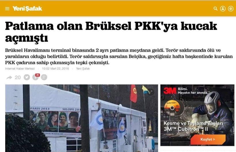 AKP medyası Brüksel saldırıları sonrası da boş durmadı