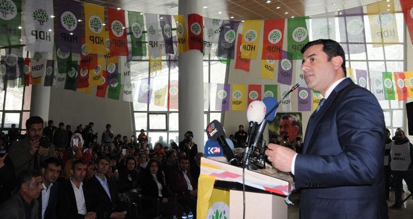 Demirtaş: Sizi korkutan Kürt halkının uzattığı elin batıdan tutulmasıdır