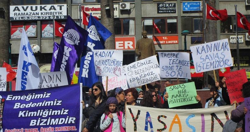 Balıkesir'de Eğitim Sen üyelerine 8 Mart soruşturması!