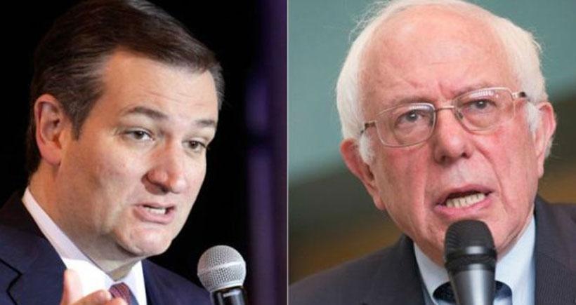 ABD'de ön seçim maratonu: Son zafer Cruz ve Sanders'ın
