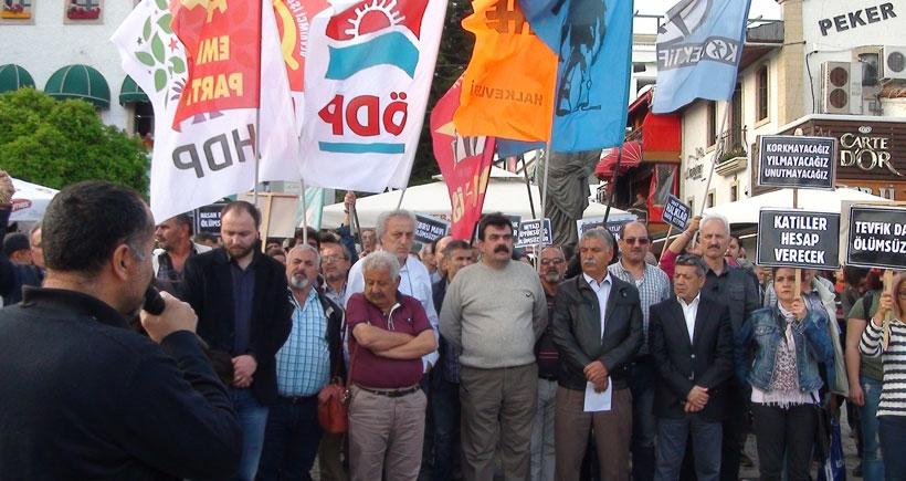 10 Ekim'de Ankara'da yaşamını yitirilenler Antalya'da anıldı