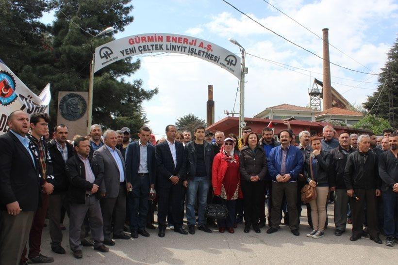 Yeni Çeltek maden işçilerinin talepleri kabul edildi