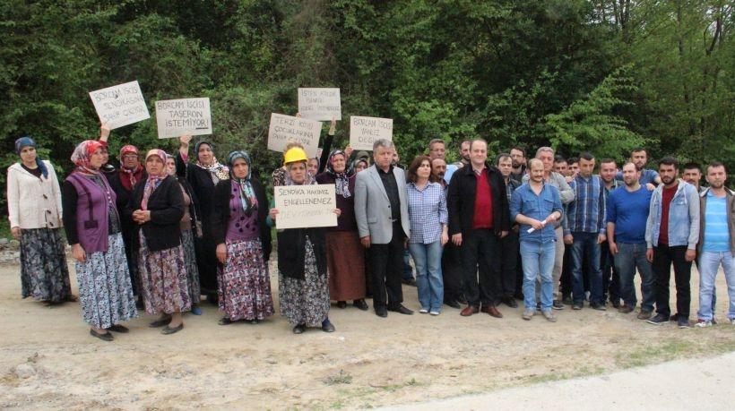 İşten atılan Borcam işçileri aileleriyle birlikte eylem yaptı