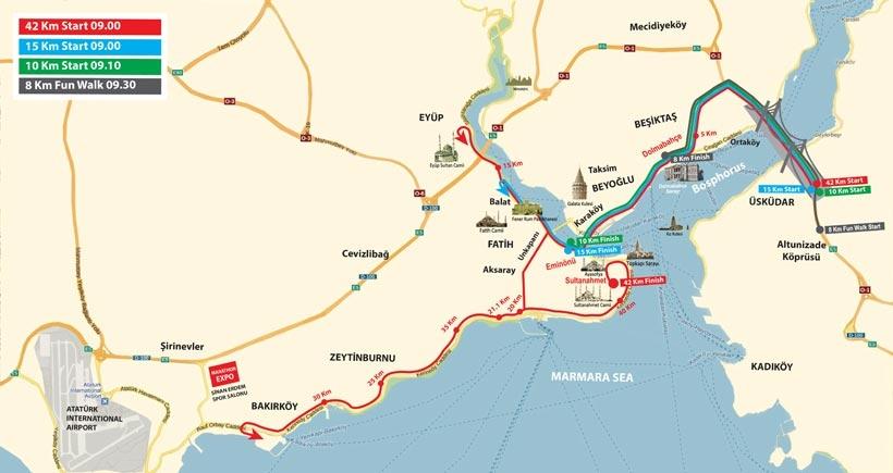 İstanbul'da 24 Nisan Pazar günü bu yollar trafiğe kapanacak