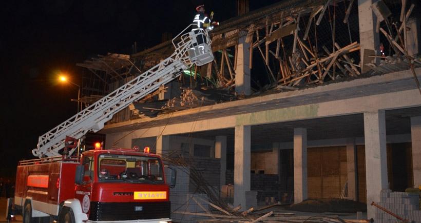Aydın'da belediye binası inşaatında göçük: 4 işçi yaralı