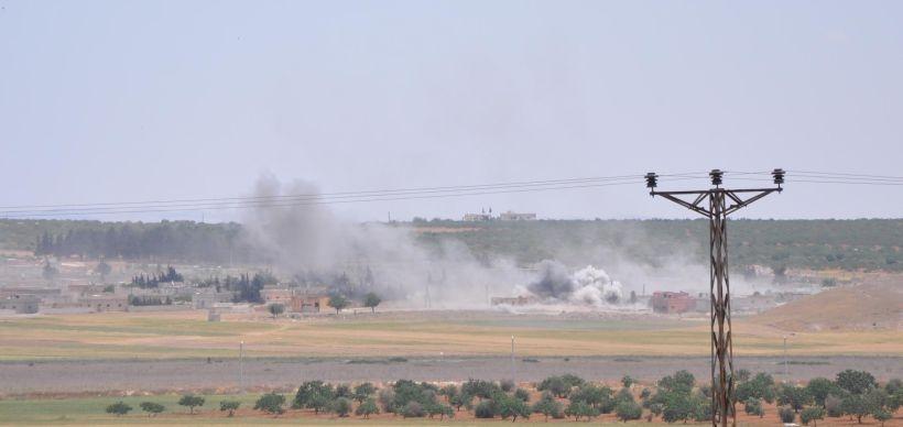 Karkamış'a IŞİD kontrolündeki bölgeden havan mermisi atıldı