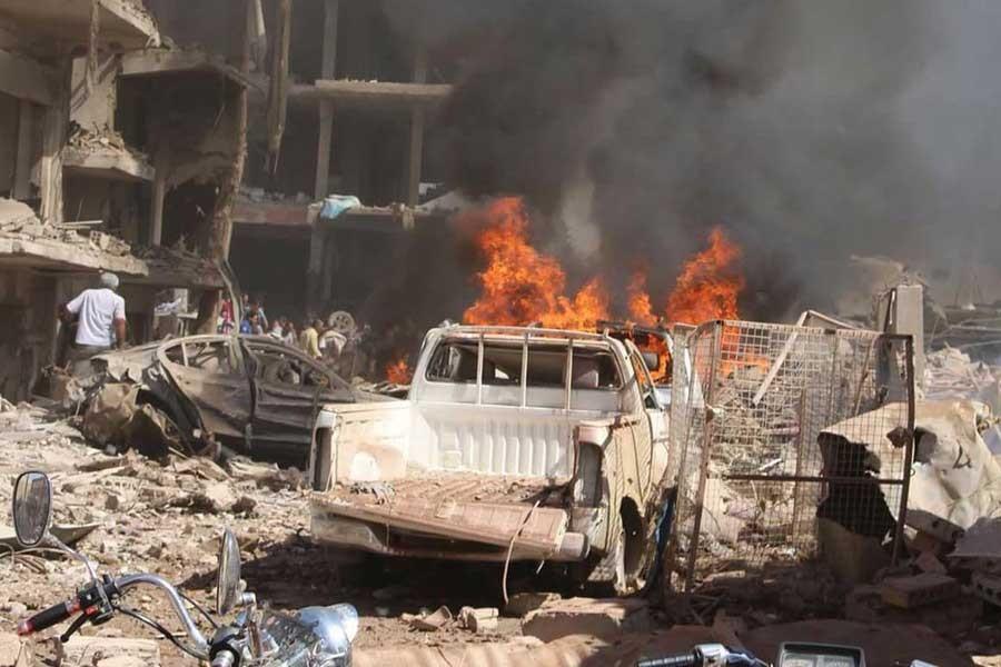 QAMİŞLO'DA BOMBALI SALDIRI