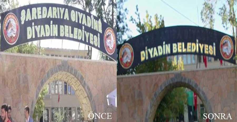 İçişleri Bakanı Kürtçe tabelanın tekrar asılacağını söyledi