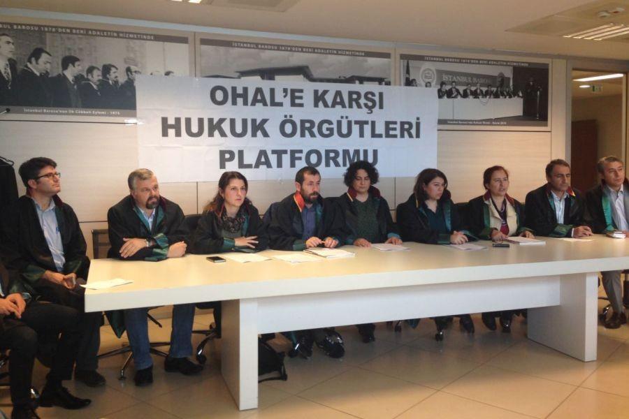 OHAL'e Karşı Hukuk Örgütleri Platformu kuruldu