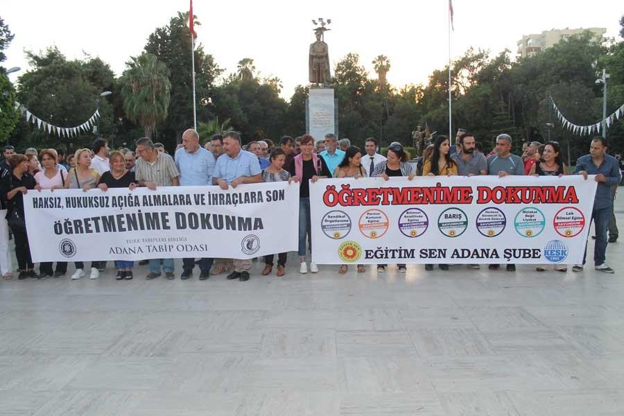 """Adana Tabip Odası """"Öğretmenime dokunma"""" dedi"""