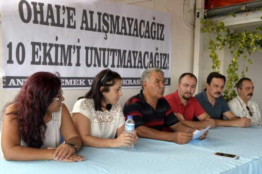 10 Ekim Katliamı'nda yaşamını yitirenler Antalya'da anılacak