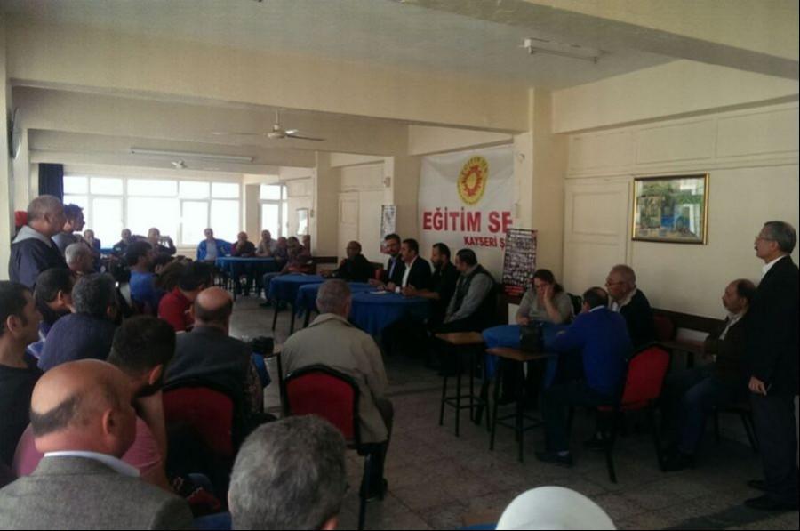 Kayseri'de emekçiler: İş güvencemize sahip çıkalım