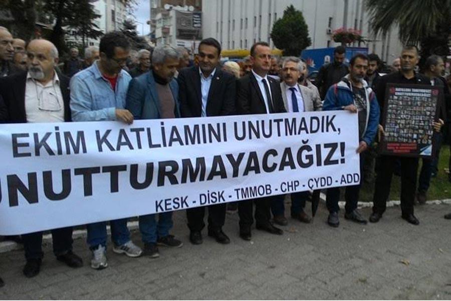 Ankara katliamında yaşamını yitirenler Sinop'ta anıldı