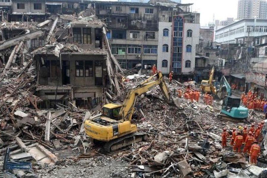Çin'de göçmen işçilerin kaldığı binalar çöktü: 22 ölü