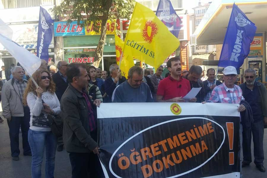 KESK Mitinginin yasaklanması Elazığ'da protesto edildi!