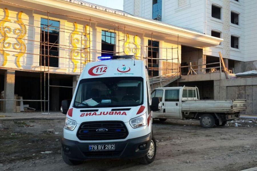 Otel inşaatında iş cinayeti