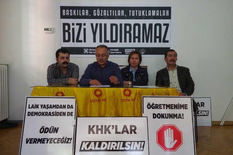 'Gözaltına alınan KESK üyeleri serbest bırakılsın'