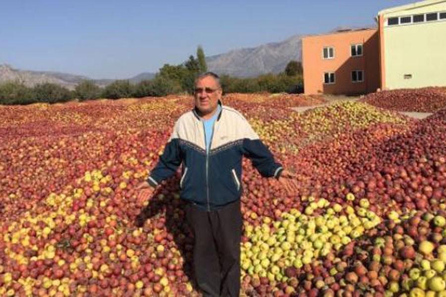 Alıcı olmayınca 20 bin ton elma sokağa döküldü