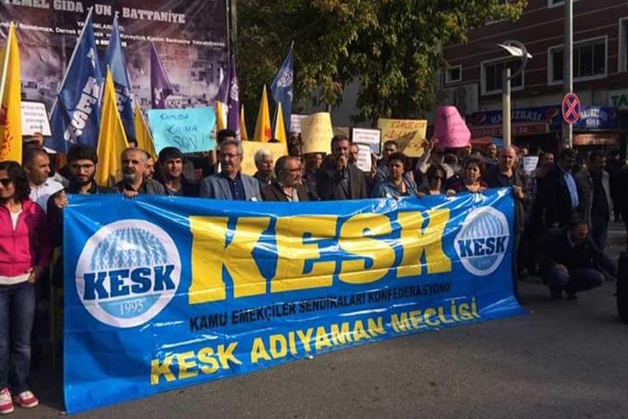 Adıyaman'da ihraç protestosu