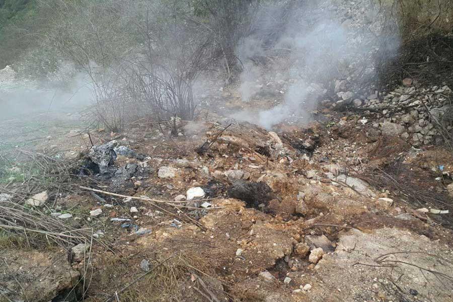 Dilovası'nda eski çöp alanında korkutan yangın