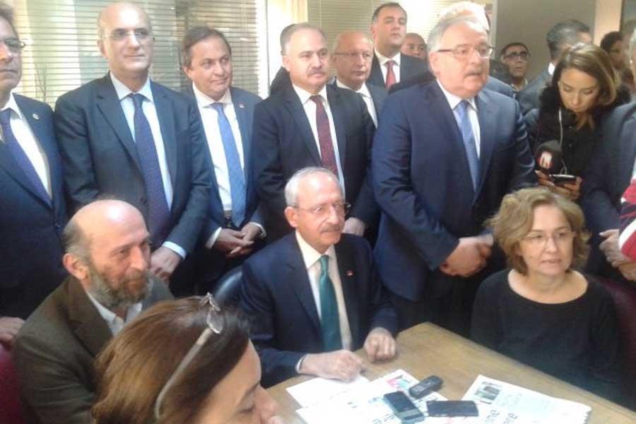 CHP Lideri Kemal Kılıçdaroğlu, Cumhuriyet'i ziyaret etti