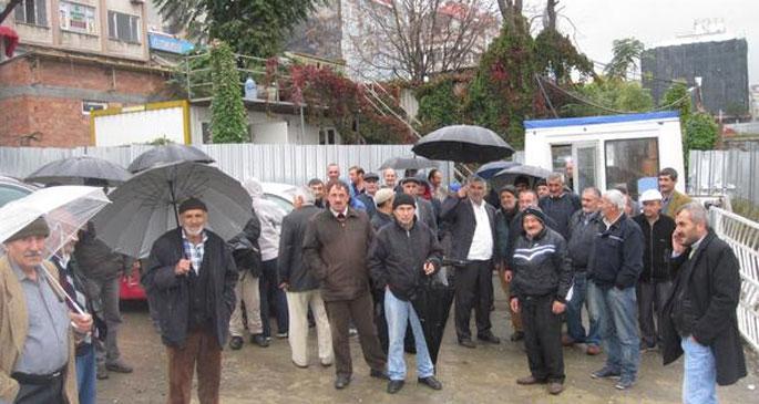 Yenikapı'da taşeron işçiler iş bıraktı
