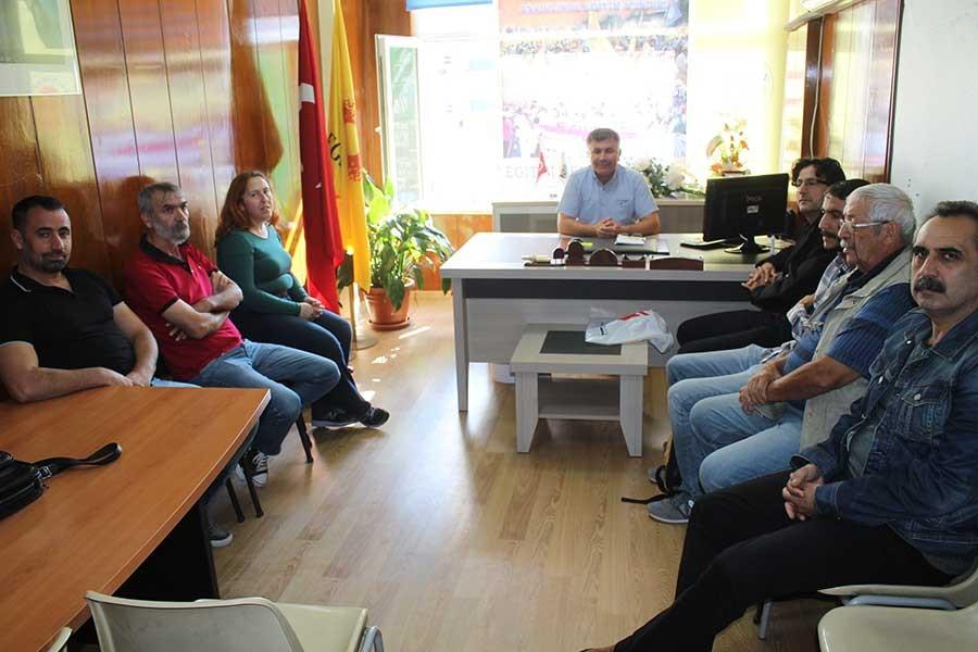 Emek Partisi, Eğitim Sen'e destek ziyaretinde bulundu