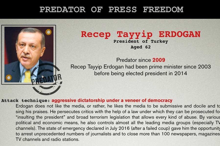 Cumhurbaşkanı Tayyip Erdoğan o listeye de girdi