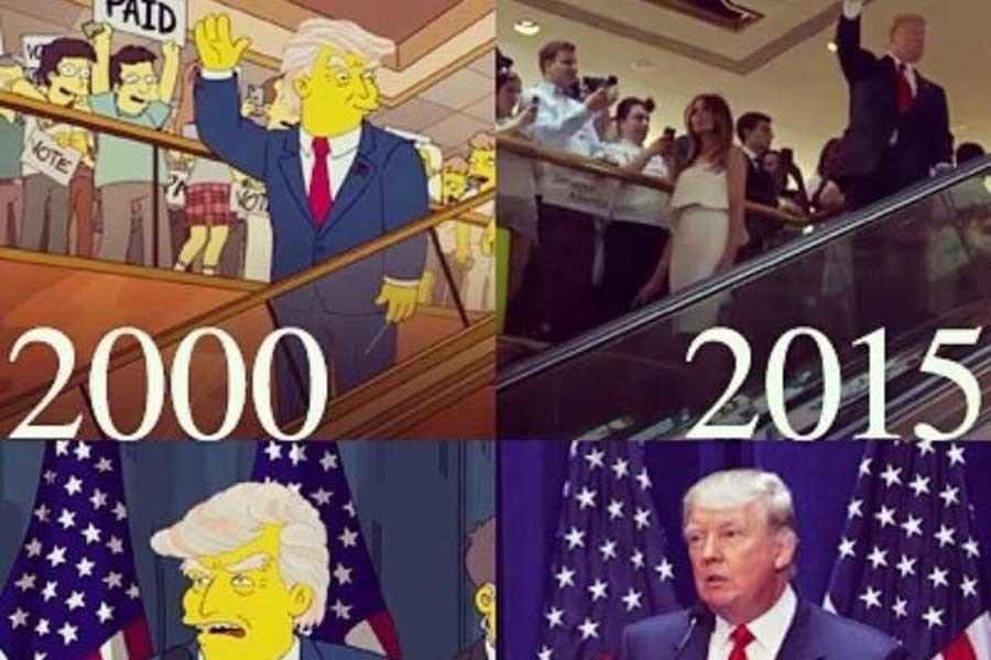 Simpsons, Donald Trump'ın başkanlığını 2000'de öngördü mü?