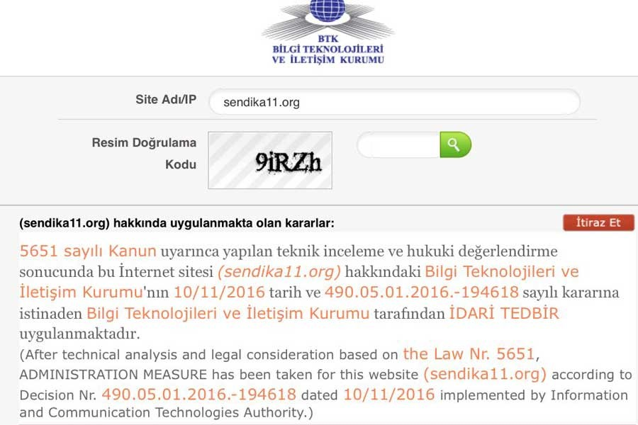 Sendika.org'a erişim 13. kez engellendi