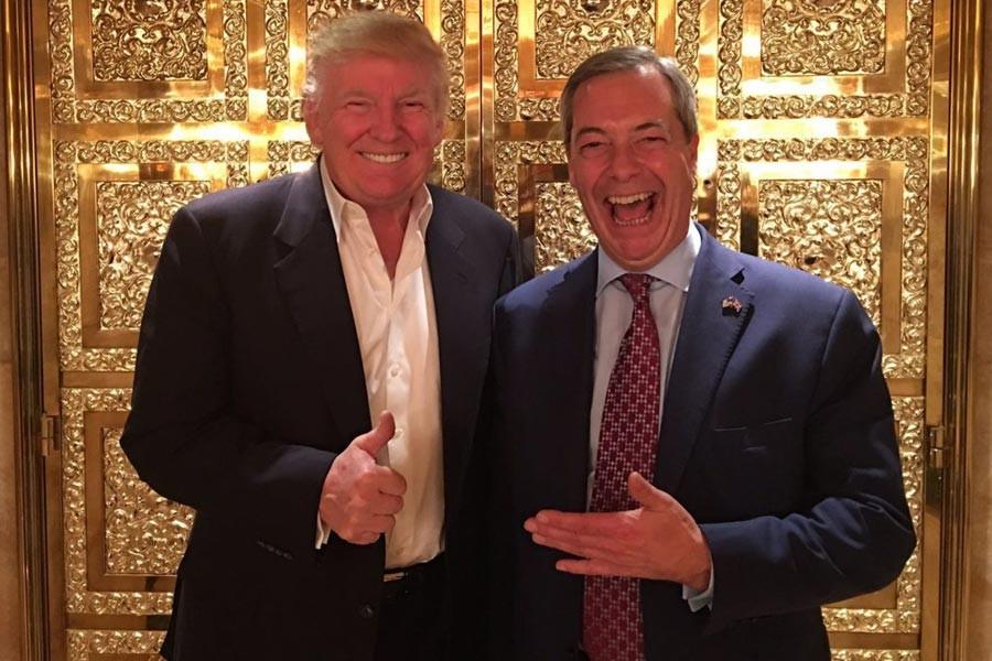 İki ırkçı, Nigel Farage ve Donald Trump New York'ta buluştu