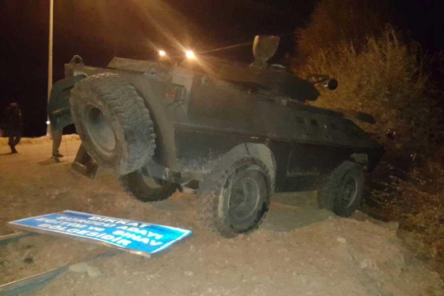 Bingöl'de zırhlı araca saldırı: 2 polis yaralandı