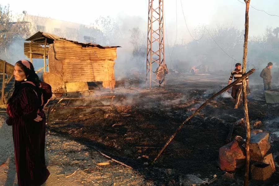 Adana'da tarım işçilerinin çadırları yandı