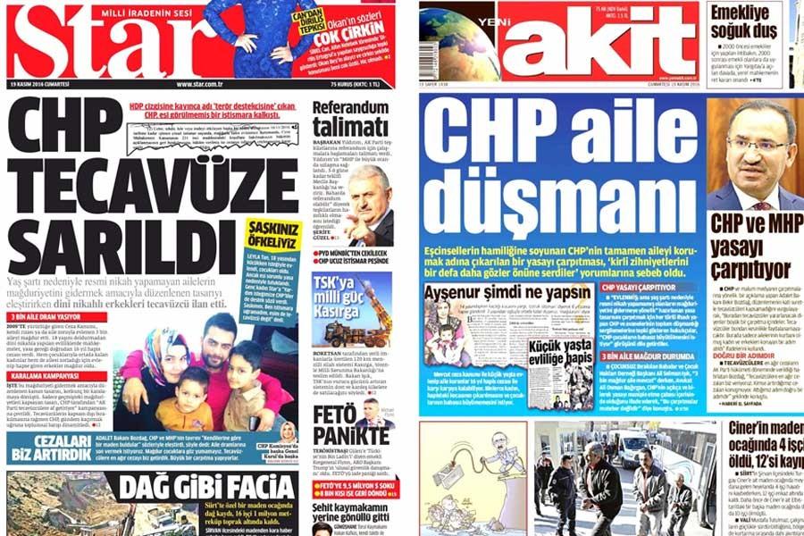 AKP medyası istismara cezasızlık için kolları sıvadı